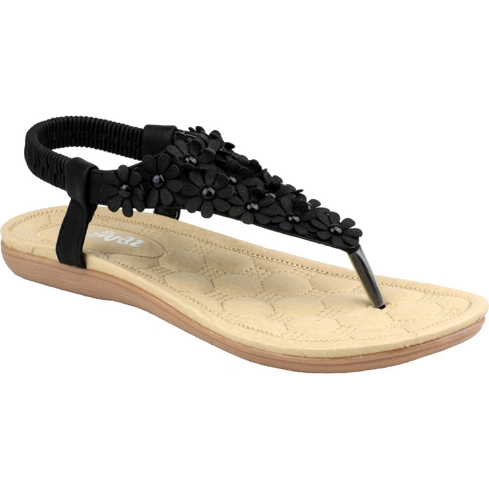 Product image of Divaz Womens/Ladies Britney Flip Flop Toe Post Floral Summer Sandals  UK Size 3 (EU 36)