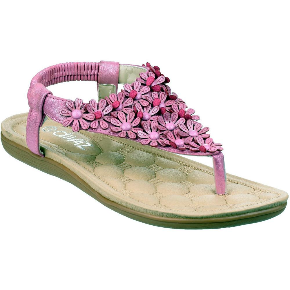 Product image of Divaz Womens/Ladies Britney Flip Flop Toe Post Floral Summer Sandals  UK Size 4 (EU 37)