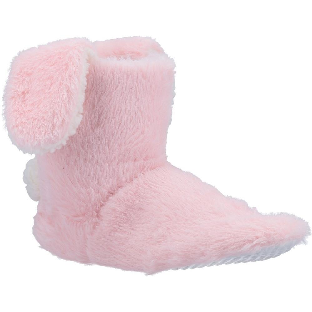 Divaz Girls Flopsy Bunny Fluffy Knitted Bootie Slippers S- Uk Size 3-4 (eu 28-30)