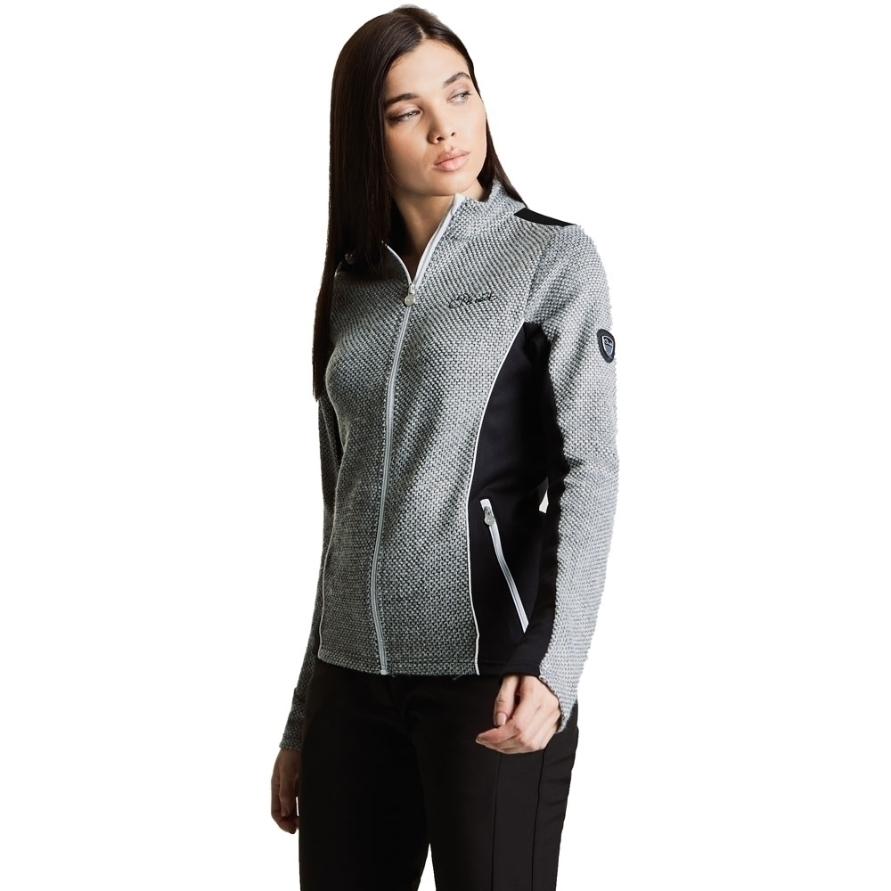 Dare 2b Womens Ambience Full Zip Knit Effect Fleece Jacket
