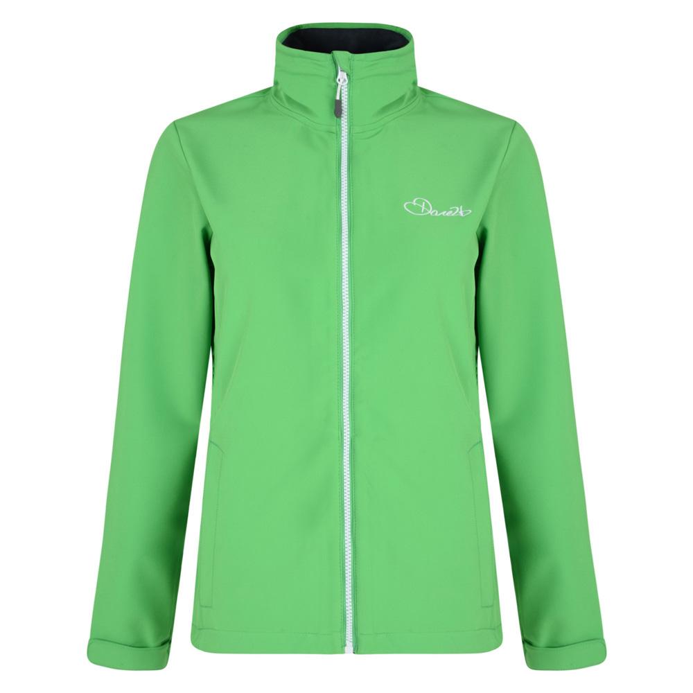 Dare2b Ladies Attentive Softshell Skiing Jacket Coat Green