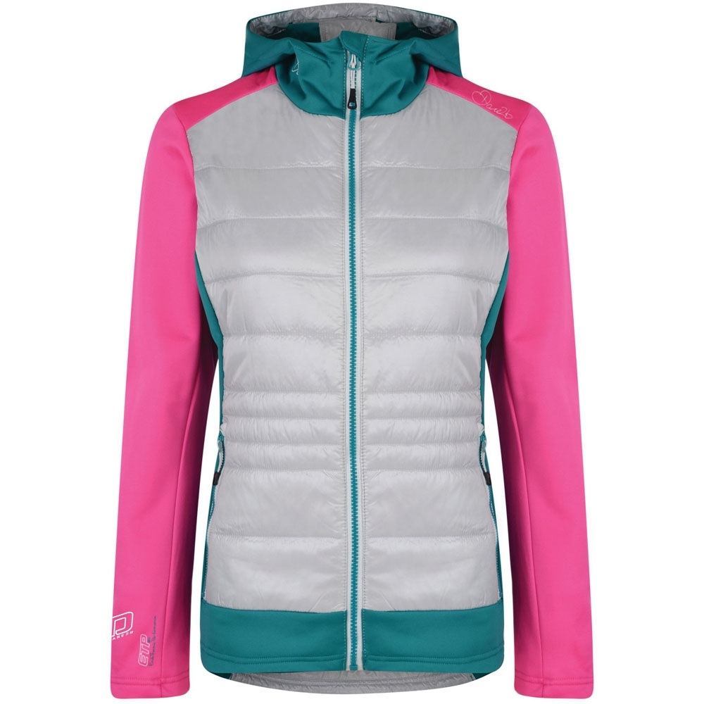 Dare 2b Womens/Ladies Inset Insulated Hooded Hybrid Jacket Coat 8 -  Chest 24 (61cm)