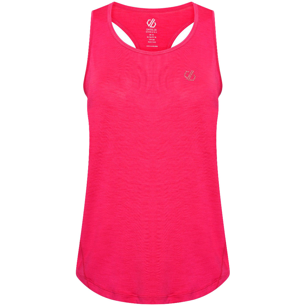 Dare 2b Womens Agleam Lightweight Wicking Running Vest Top Uk 10- Bust 34  (86cm)