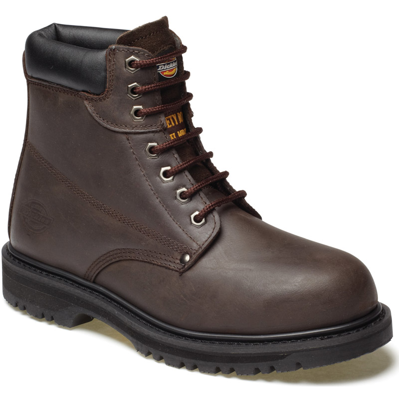 Dickies Mens Workwear Cleveland Super Safety Boot Dark Brown FA23200D