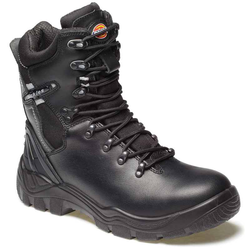 Dickies Mens Workwear Quebec Lined Super Safety Boot Black FD23375B