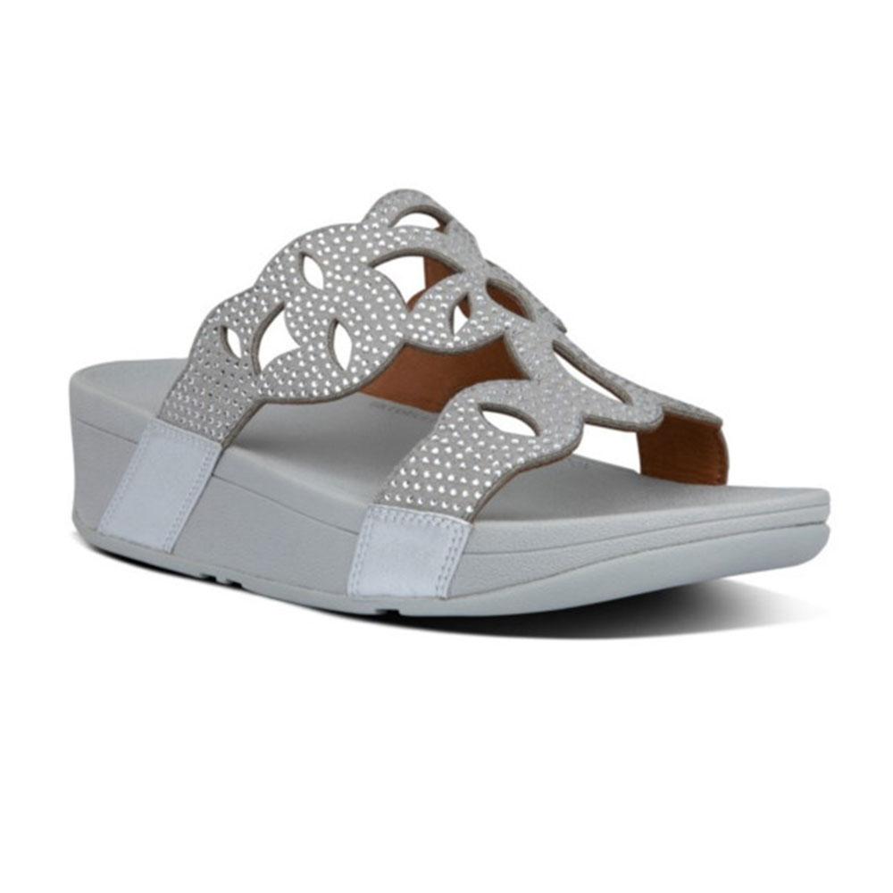 Fit Flop Womens Elora Crystal Leather Slider Sandals UK Size 5 (EU 38)
