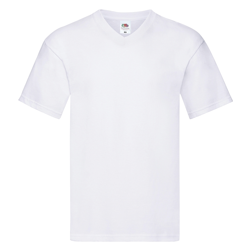 Fruit Of The Loom Mens Layered V Neck 100% Cotton T Shirt 4xl - 53/55 Chest