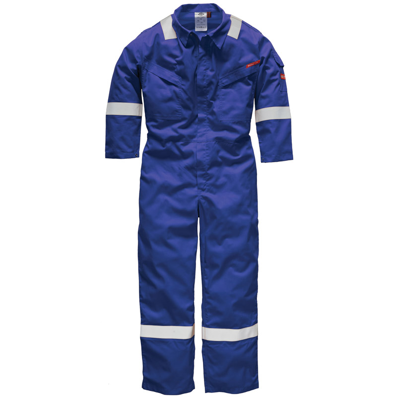 Dickies Mens Workwear Lightweight Pyro Coverall 220 Blue FR5401RO