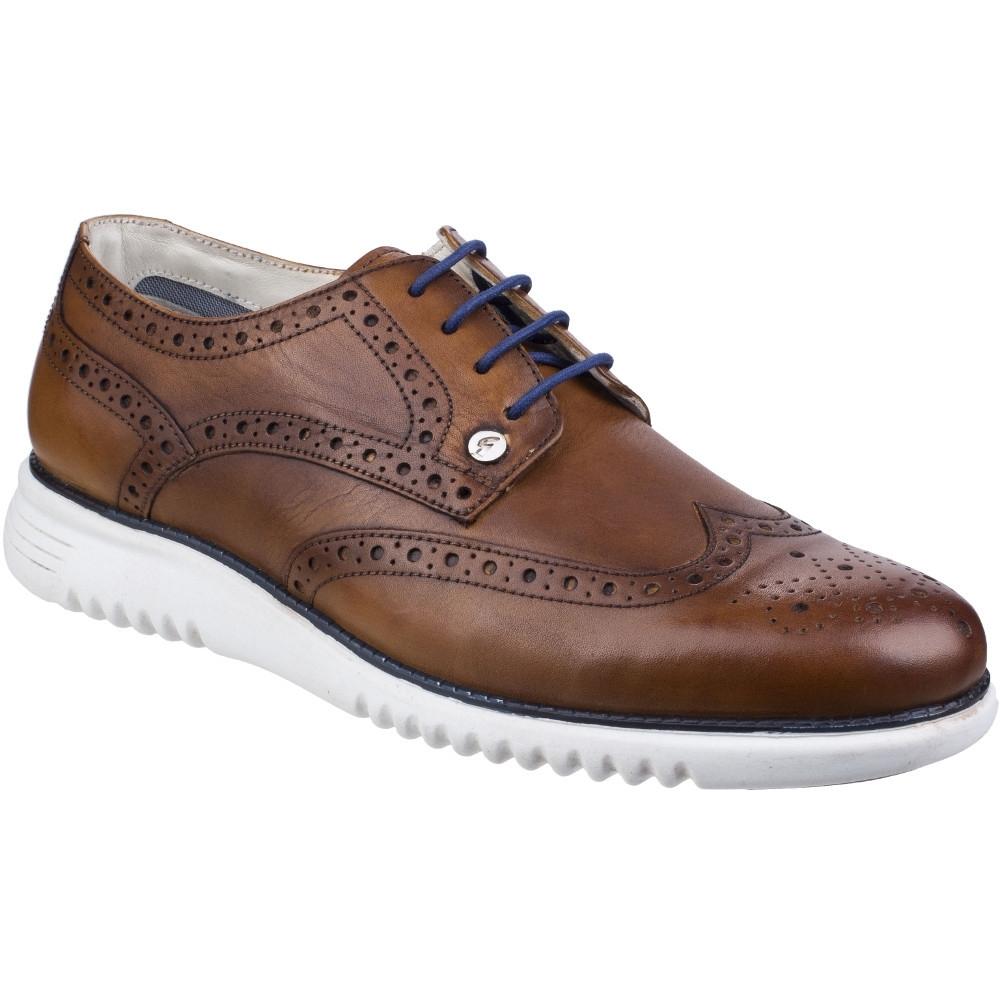 Gabicci Mens Verney Brogue Leather Lace Up Casual Shoes UK Size 10 (EU 44)