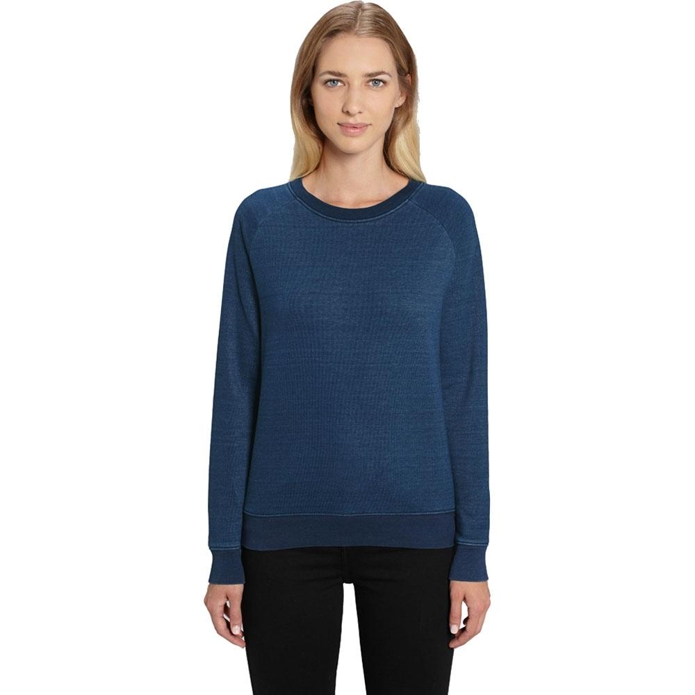 Greent Womens Organic Tripster Denim Crew Neck Sweatshirt L- Uk Size 14