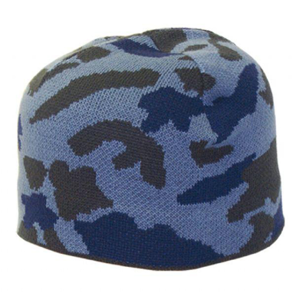 Product image of Highlander Mens Blue Urban Camouflage Patterned Beanie Hat One