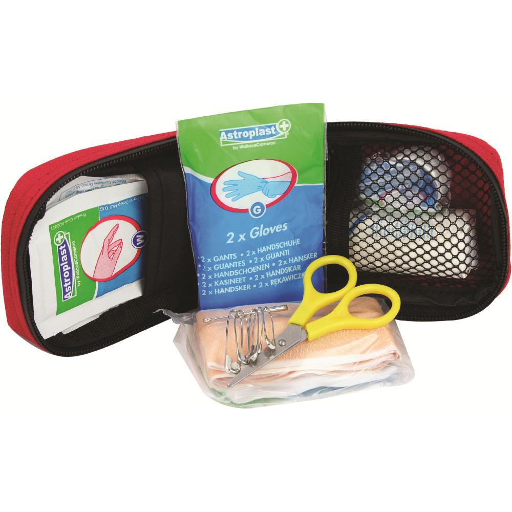 Highlander First Aid Dressing Wipes Bandage Scissors Mini Pack One Size