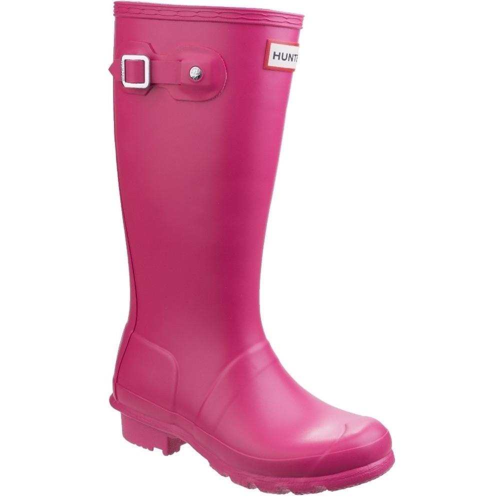 Image of Hunter Boys Original Reflective Matte Tall Wellington Boots UK Size 1 (EU 33)