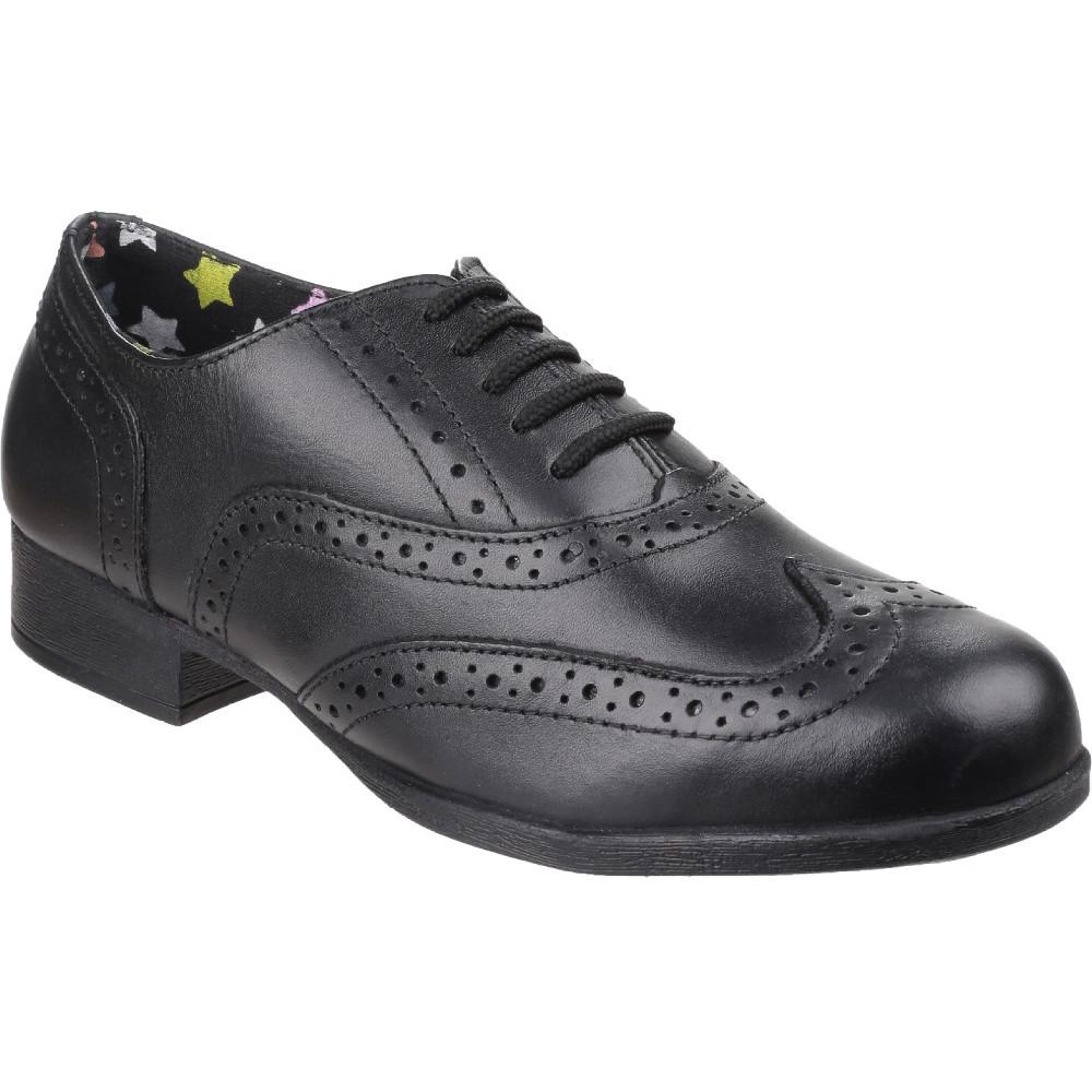 Hush Puppies Girls Kada Smart Polished Leather Brogue School Shoes UK Size 1 (US 1.5, EU 33)