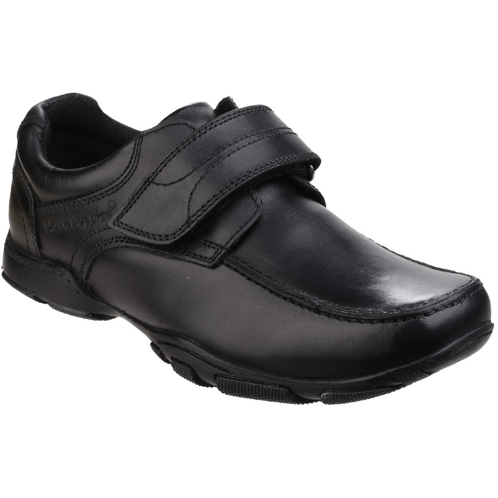 Hush Puppies Boys Freddy 2 Leather Durable Back to School Smart Shoes UK Size 10.5