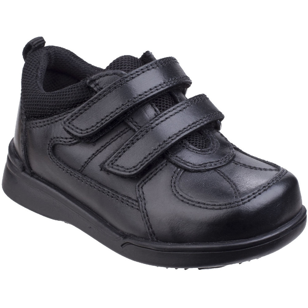 Hush Puppies Mens Nova Full Grain Leather Textile Velcro Shoes Uk Size 10 (us 11  Eu 45)