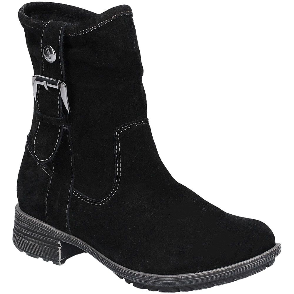 Image of Hush Puppies Womens Collie Zip Up Mid Height Calf Boots UK Size 3 (EU 36)