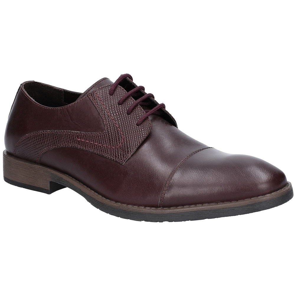 Image of Hush Puppies Mens Derby Plain Toe Oxford Leather Shoes UK Size 11 (EU 46)