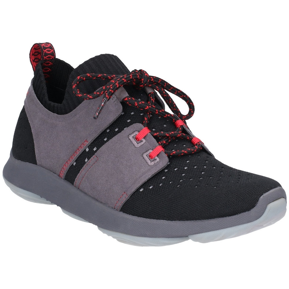 Image of Hush Puppies Womens World Lace Up Refaxed Fit Trainers Shoes UK Size 3 (EU 36)