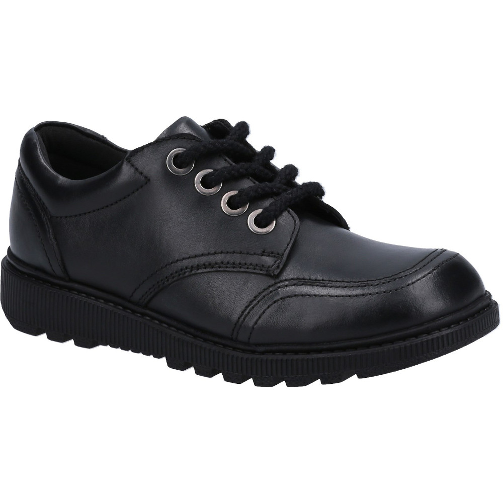 Hush Puppies Girls Kiera Leather Junior Lace Up School Shoes Uk Size 2 (eu 34)