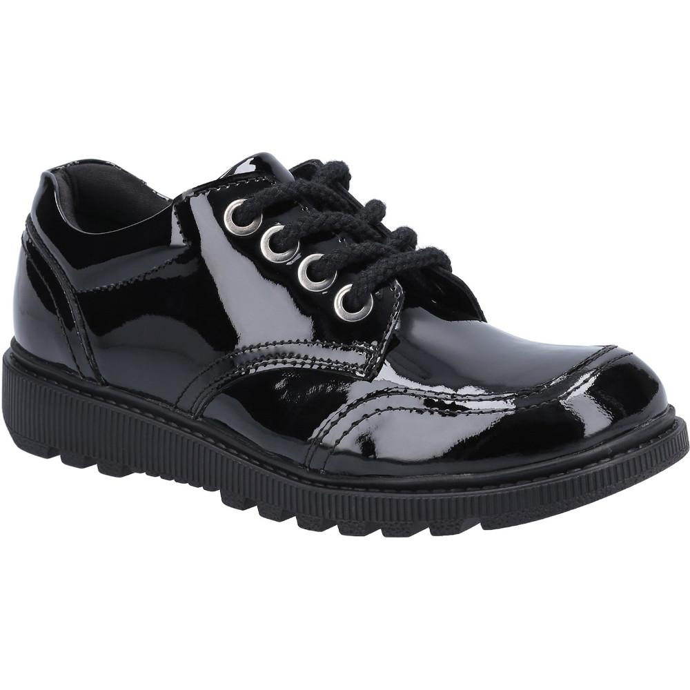 Hush Puppies Girls Kiera Junior Patent Leather School Shoes Uk Size 2 (eu 34)