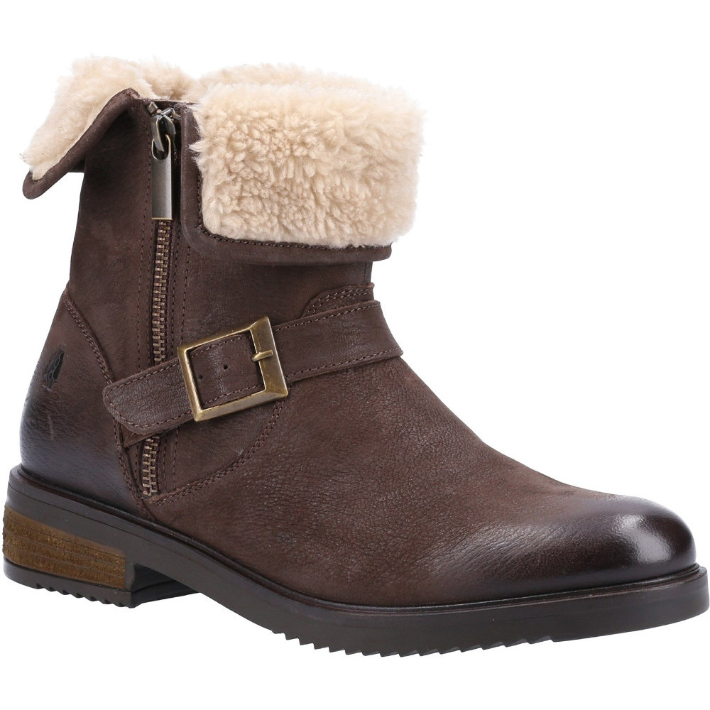 Hush Puppies Womens Tyler Leather Zip Up Ankle Boots UK Size 3 (EU 36)
