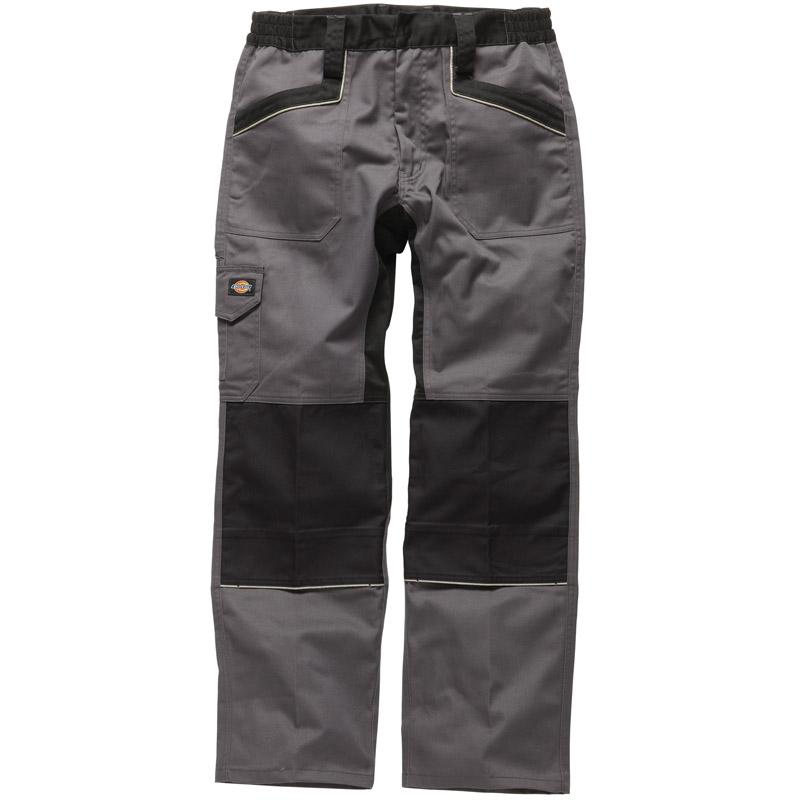 Dickies Mens industry 260 Workwear Trousers Grey Black IN1001G