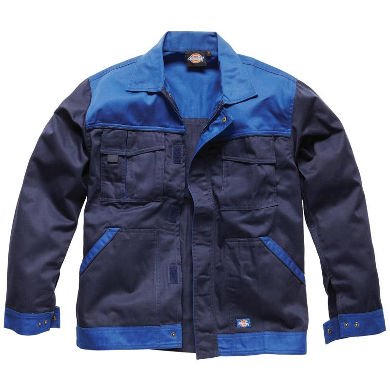 Dickies Mens Workwear industry 300 Two Tone Work Jacket Navy Royal