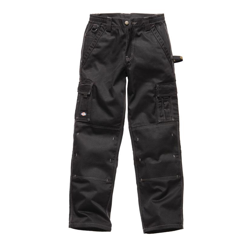 Dickies Mens industry 300 Two Tone Workwear Trousers Black IN30030B