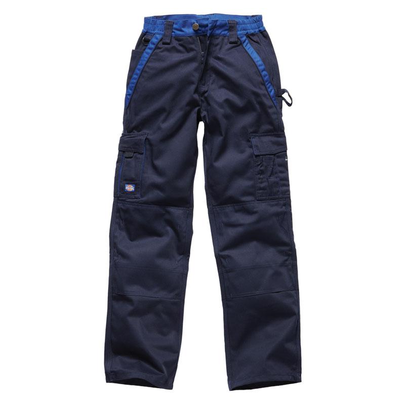 Dickies Mens industry 300 Two Tone Workwear Trousers Navy IN30030N