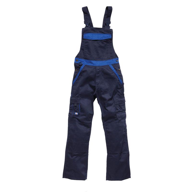 Dickies Mens Workwear Industry 300 Twotone Work Bib & Brace Navy Royal