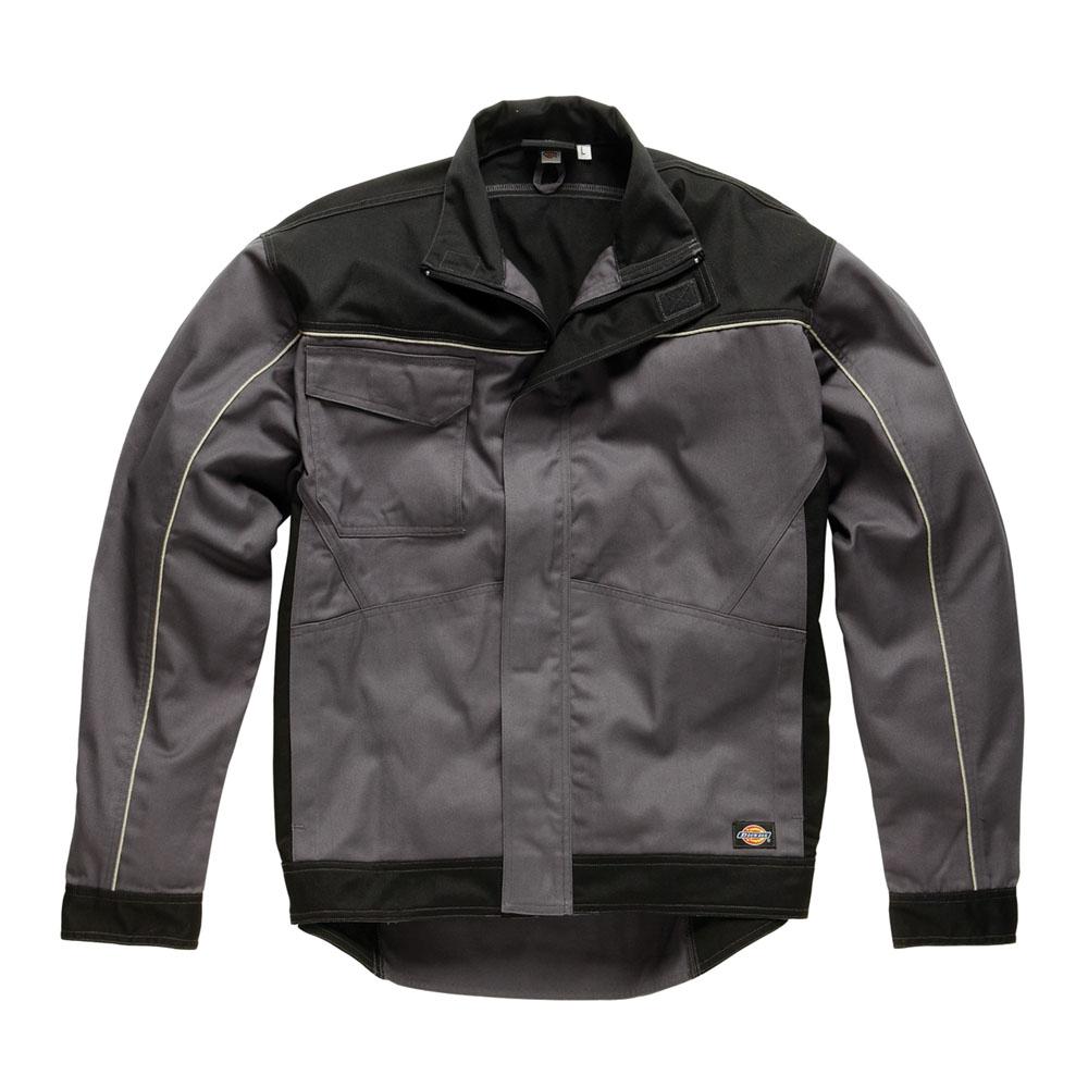 Dickies Mens Workwear industry 260 Jacket Grey Black IN7001G