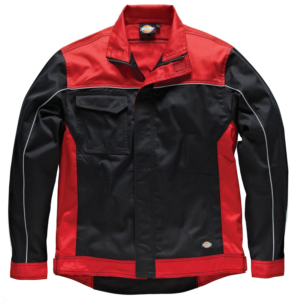 Dickies Mens Workwear industry 260 Jacket Red Black IN7001R