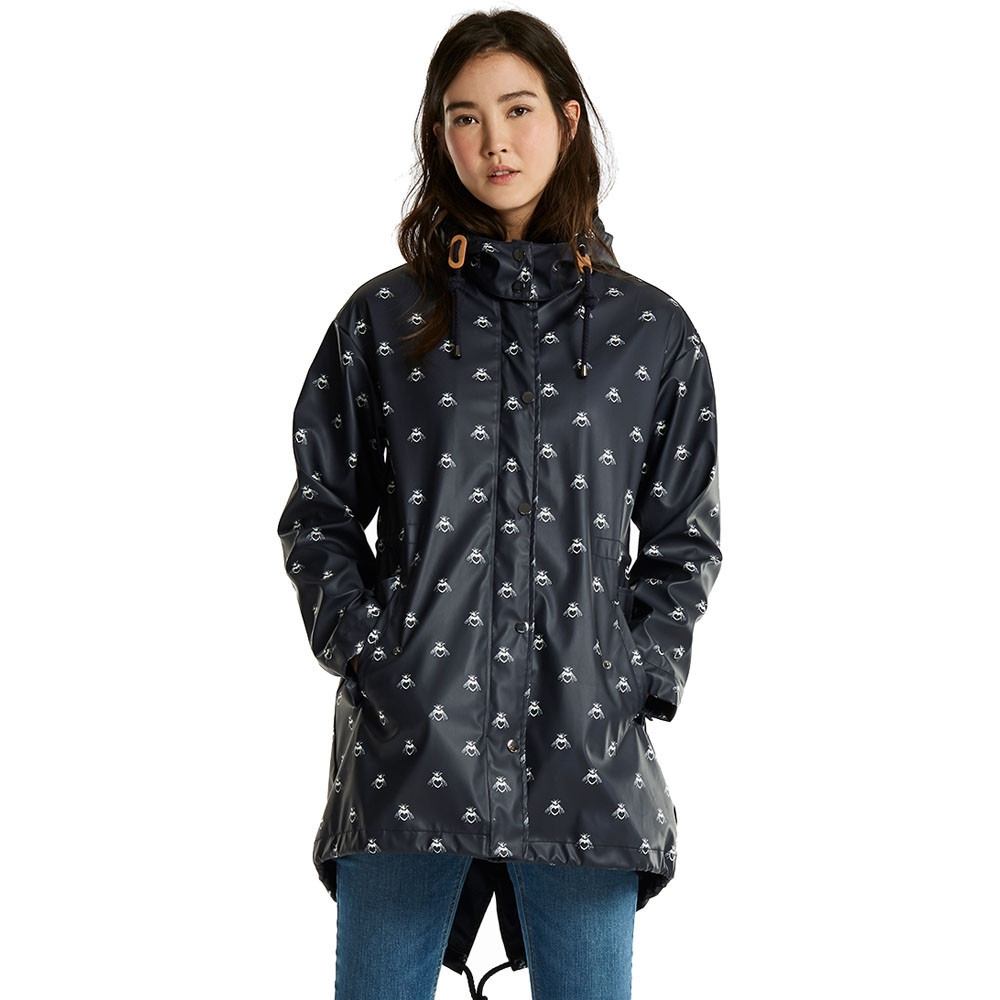 Joules Womens/Ladies Mistralprint Rubber Waterproof Parka
