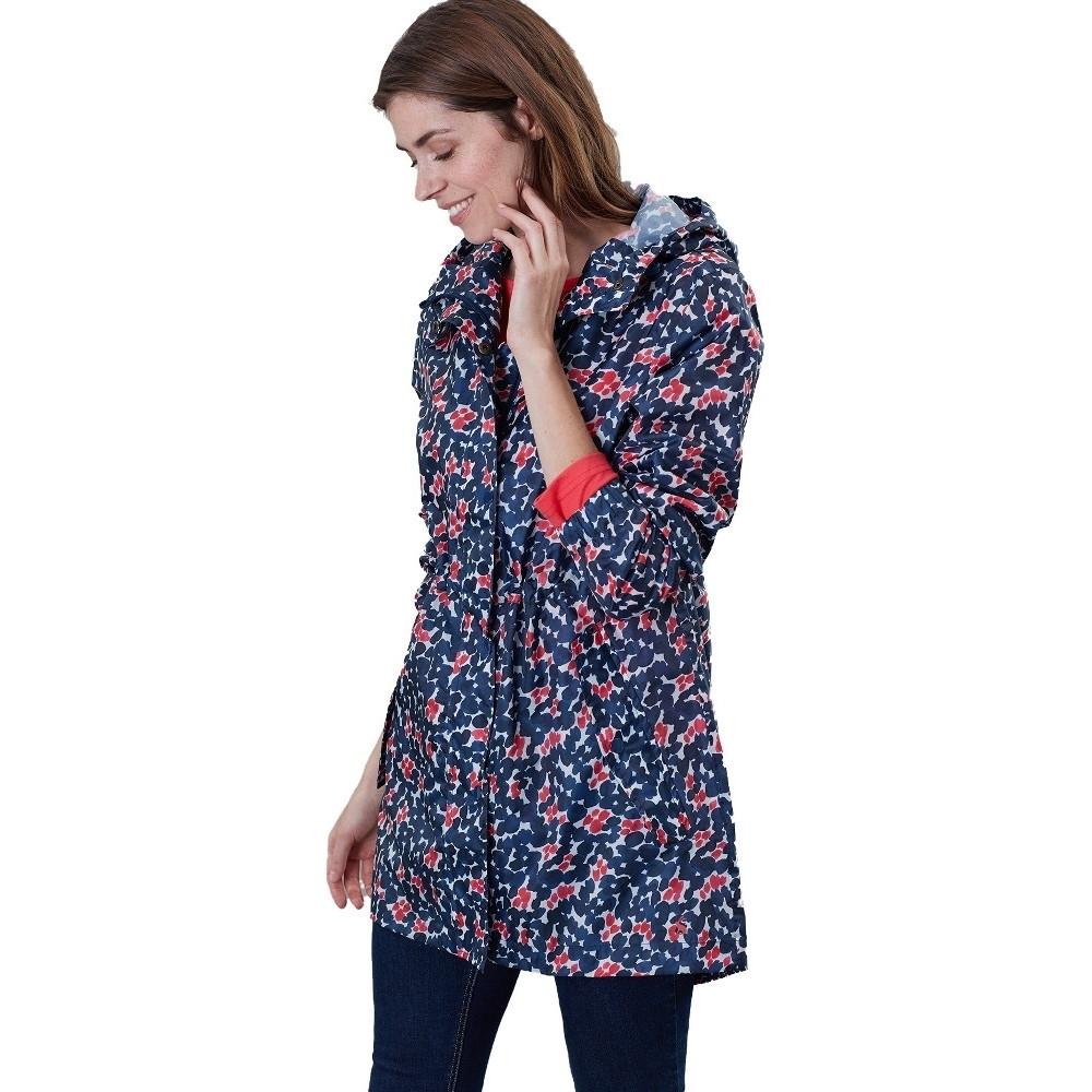Joules Womens Golightly Packaway Waterproof Parka Jacket Uk 8- Bust 33 (84cm)