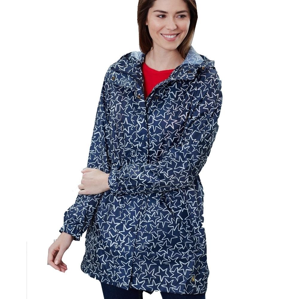 Joules Womens Golightly Packaway Waterproof Parka Jacket Uk Size 10- Chest 35 (89cm)