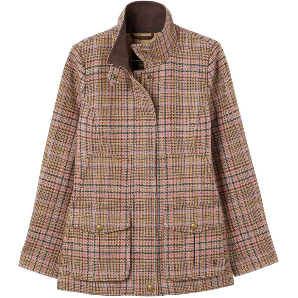 Joules Womens Fieldcoat Fitted Tweed Coat Jacket UK 10- Bust