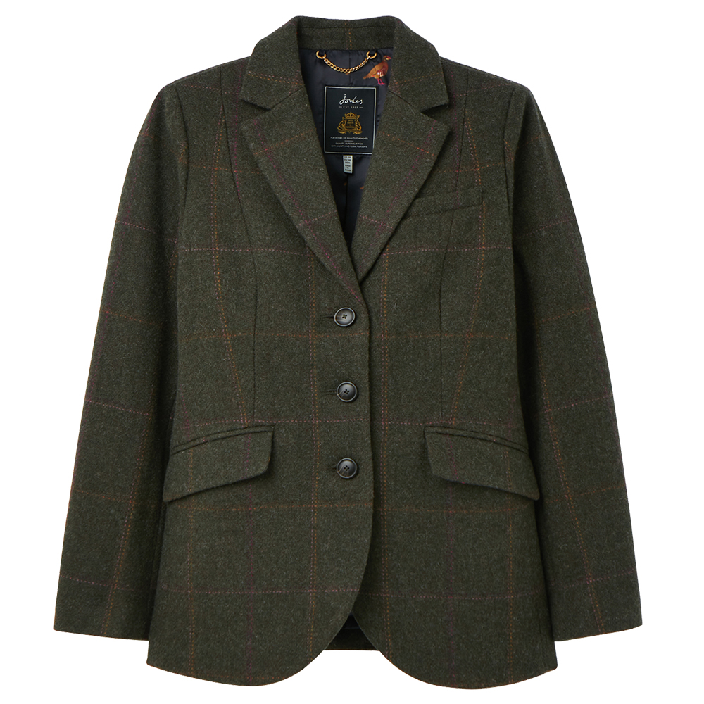 Joules Womens Westleigh Tailored Fit Tweed Coat Jacket UK 12