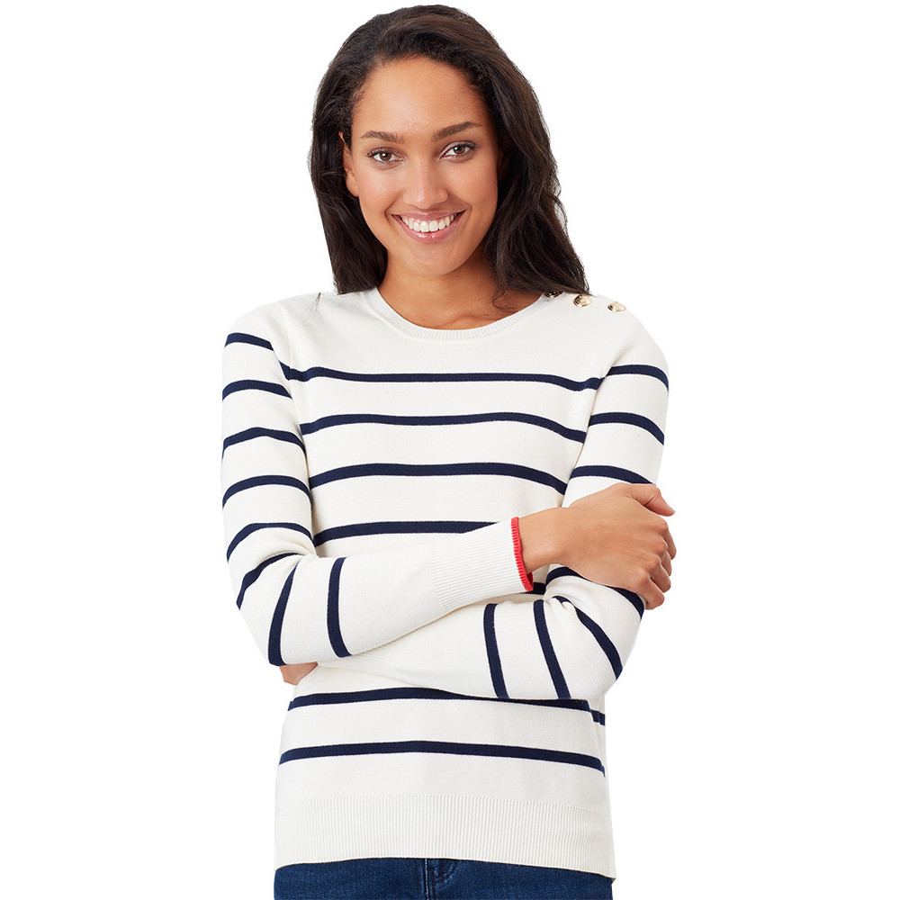 Joules Womens/ladies Miranda Intarsia Graphic Slimmer Knitted Jumper 16 - Bust 40 (102cm)