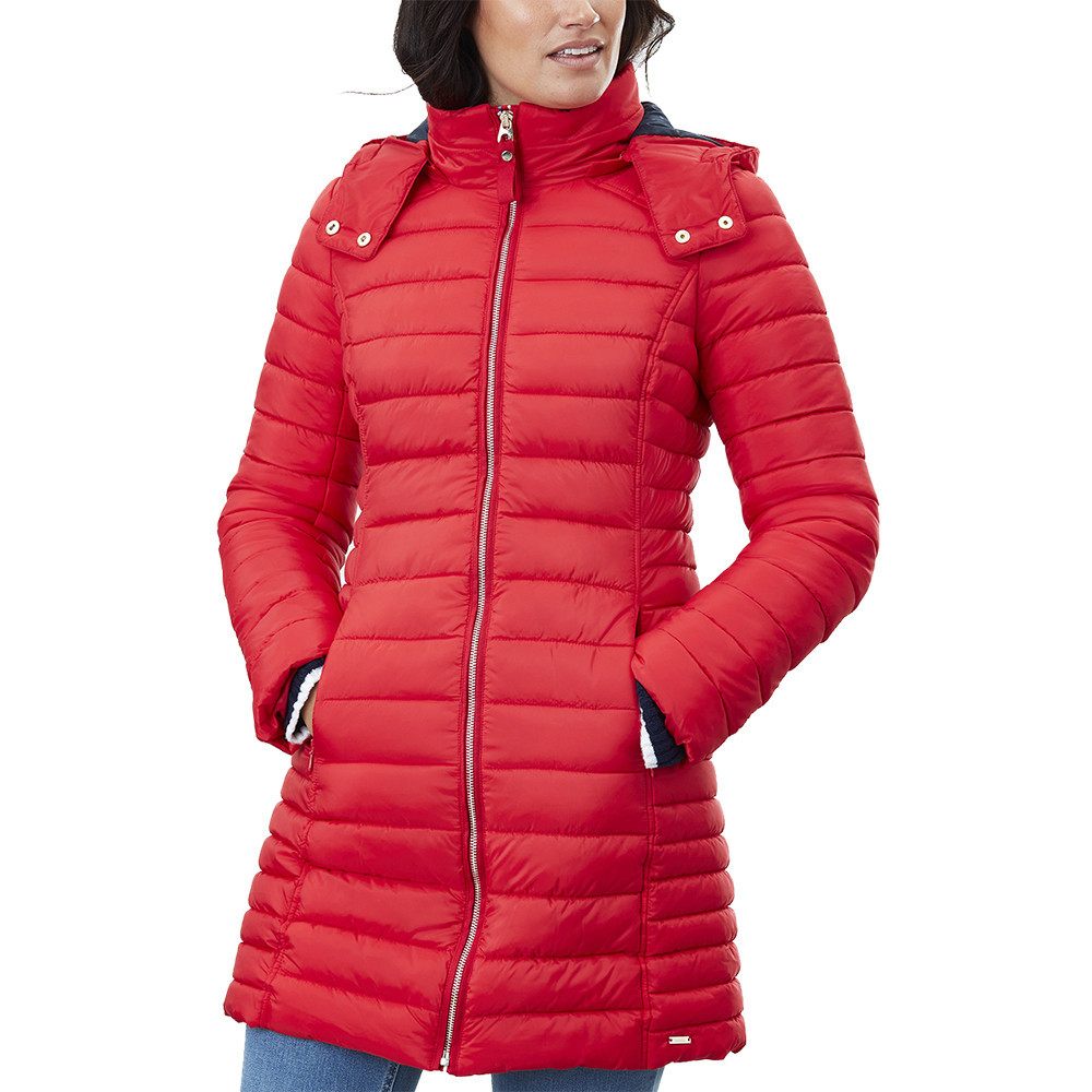 Joules Womens Canterbury Long Fitted Padded Jacket Coat UK 8