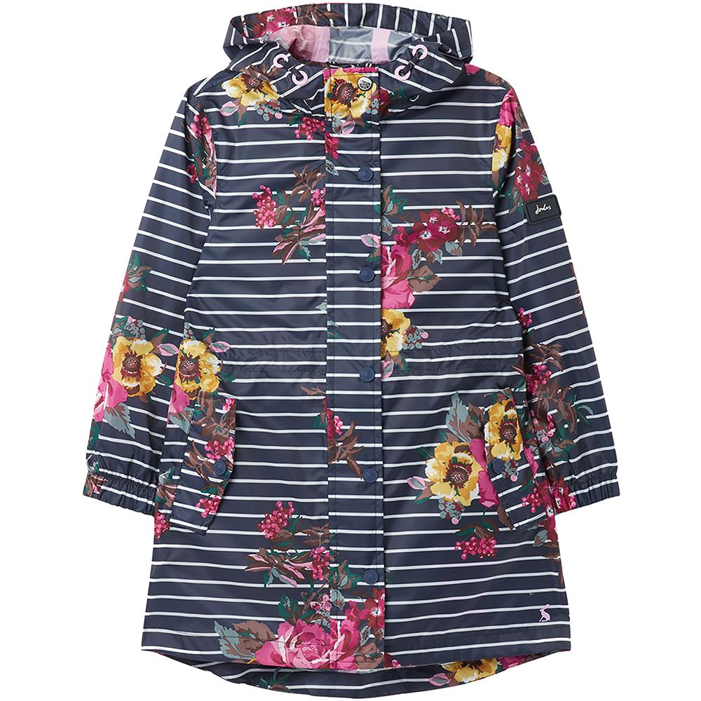 Joules Womens Golightly Short Waterproof Pack Away Coat 8 - Bust 32.5 (83cm)