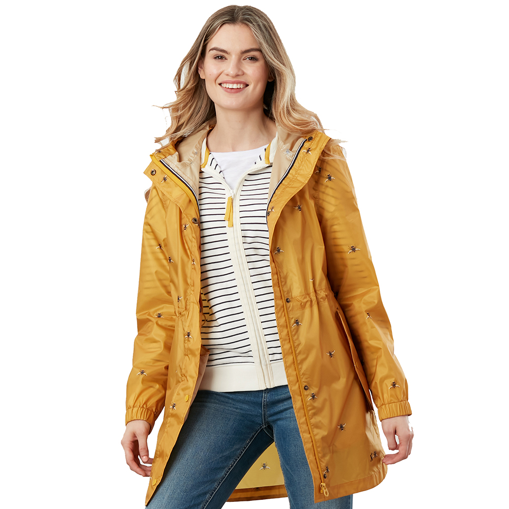 Joules Womens Poncho Long Length Drawcord Hooded Poncho One Size