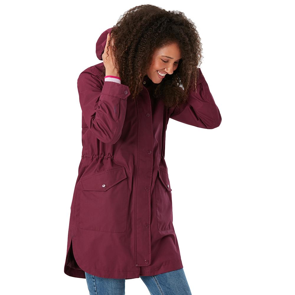 Joules Womens Loxley Waterproof Longline Coat Jacket UK 10-