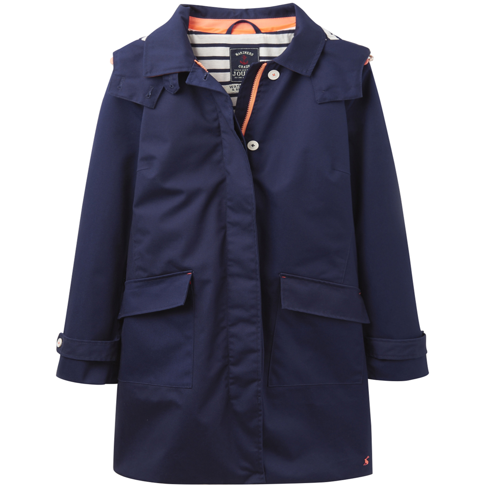 Joules Ladies Seaford Waterproof Lined Polycotton Rain Coat