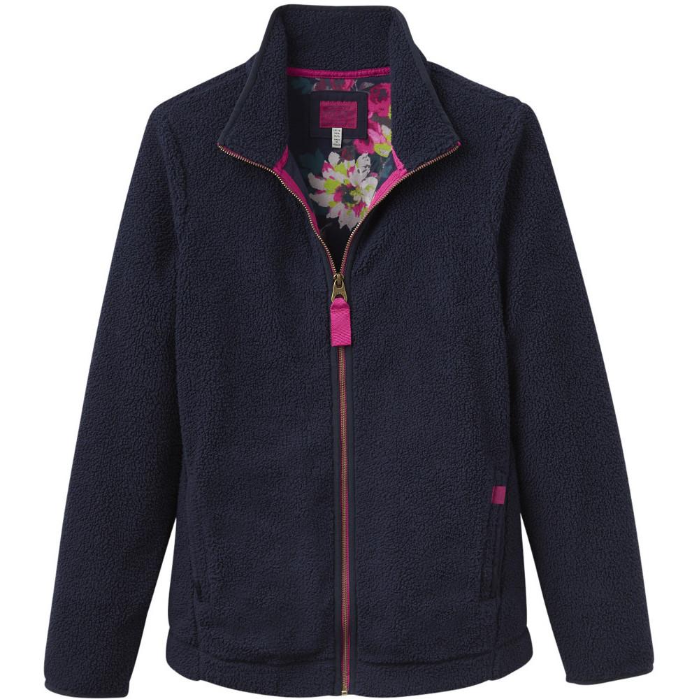 Joules Womens/Ladies Maeve Full Zip Fluffy Fleece Jacket ...