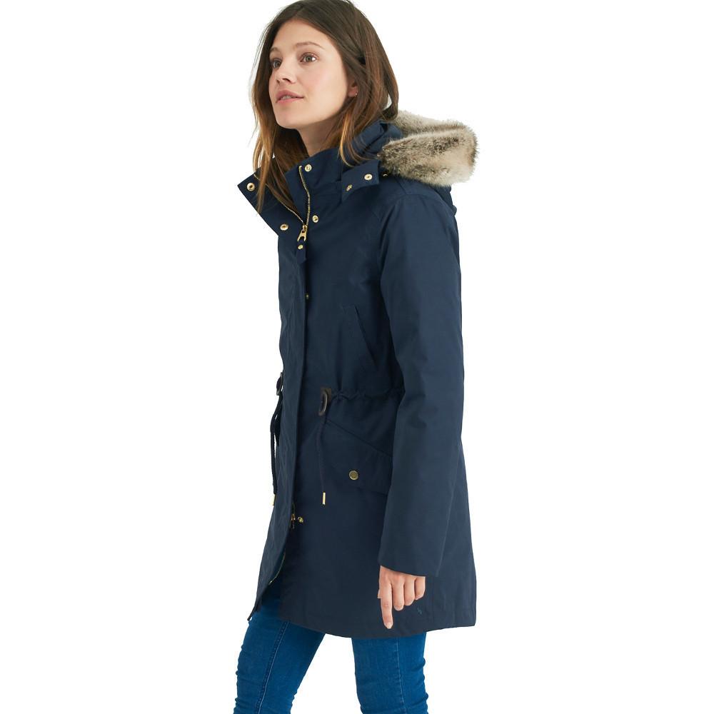 Joules Womens/Ladies Wyndfall Faux Fur Trim Hooded Parka Jac