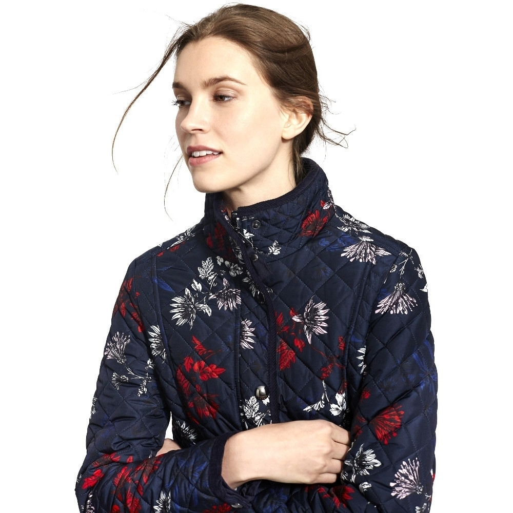 Joules Womens/Ladies Newdale Print Quilted Polycotton