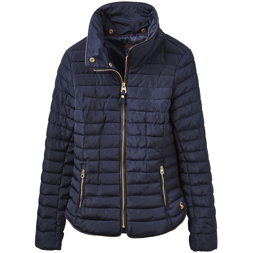 Joules Womens/Ladies Gosfield Fur Trimmed Padded Short Jacket 12 - Bust 36 (91cm)