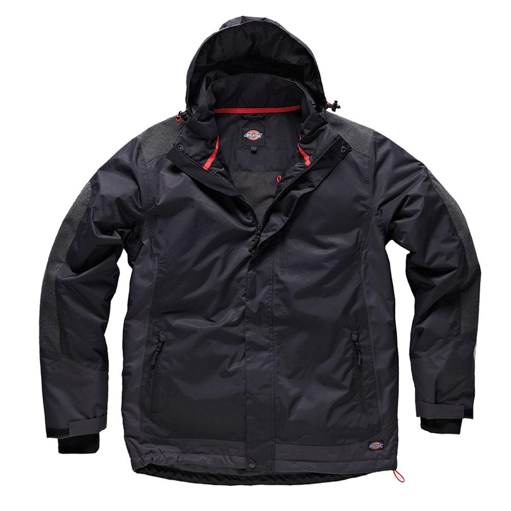 Dickies Mens Workwear Fulton Contract Jacket Black JW7006B