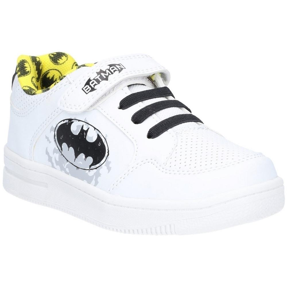 Image of Leomil Boys Batman Low Lightweight Casual Plimsoll Shoes UK Size 1 (EU 33)